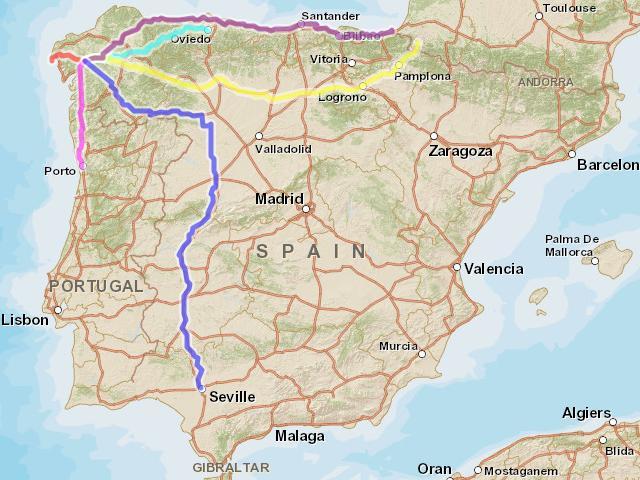 Путь Сантьяго маршруты