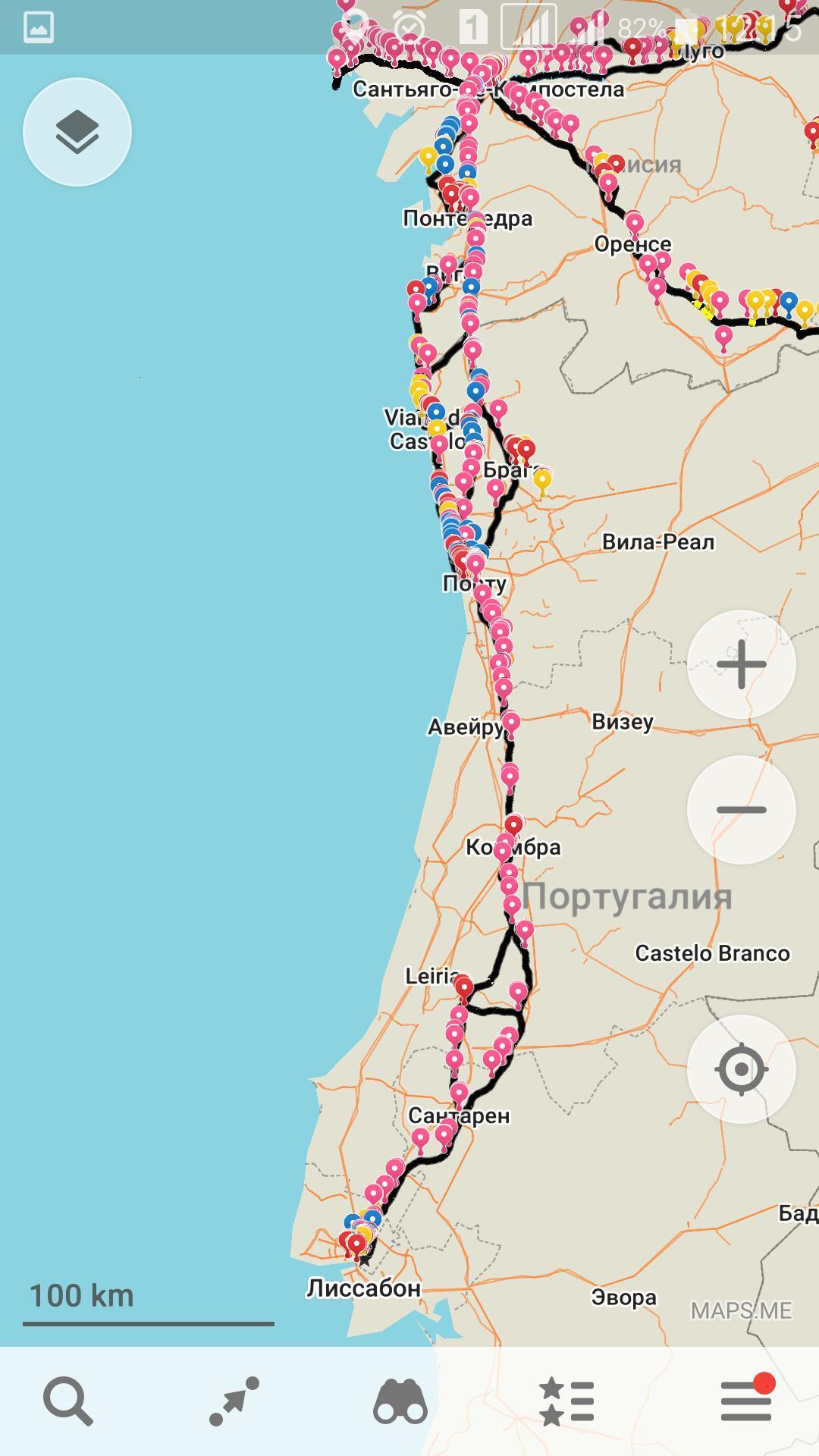 Camino Portugues - Португальский путь береговой маршрут