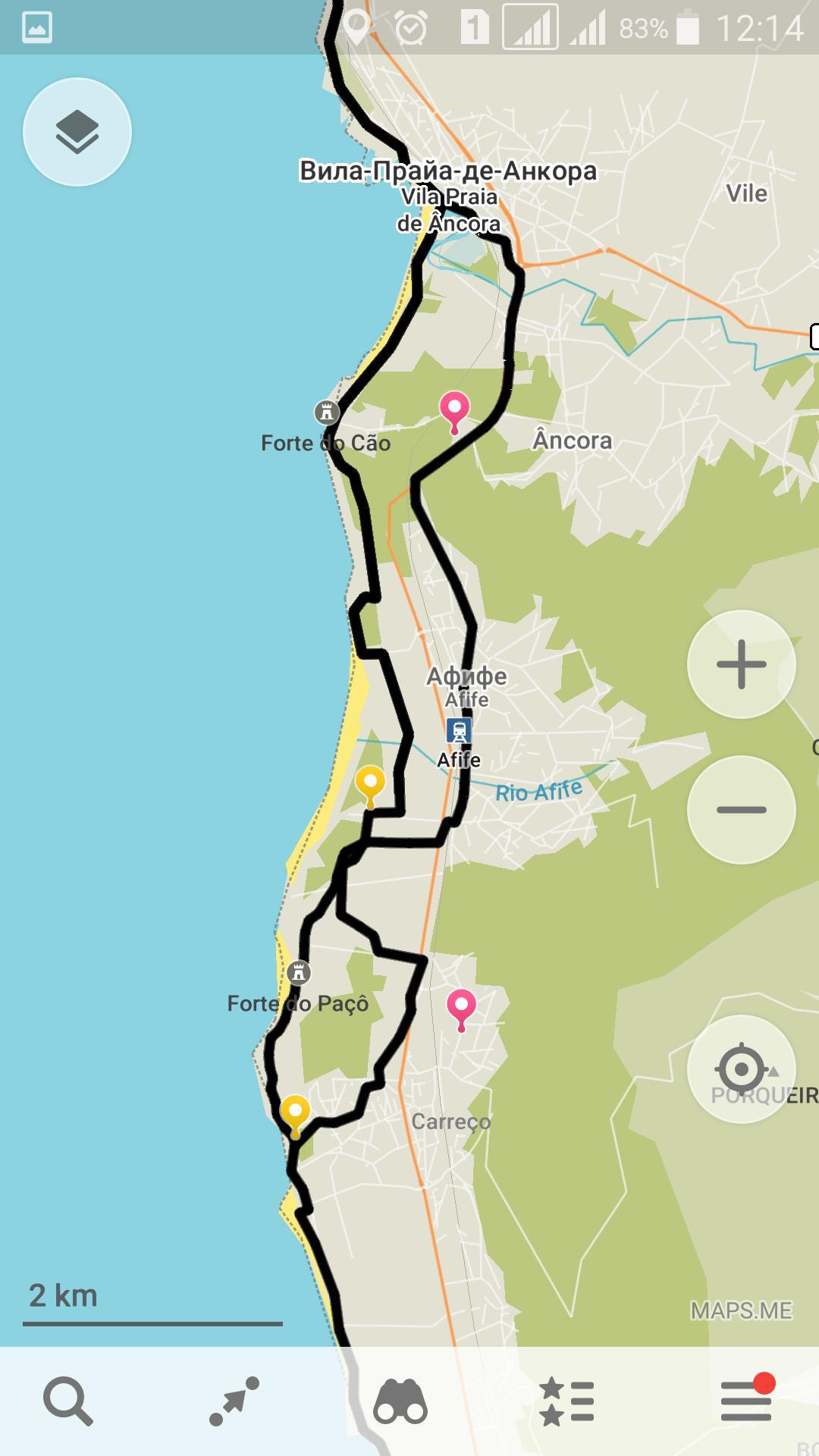 Португальский путь Сантьяго береговой маршрут