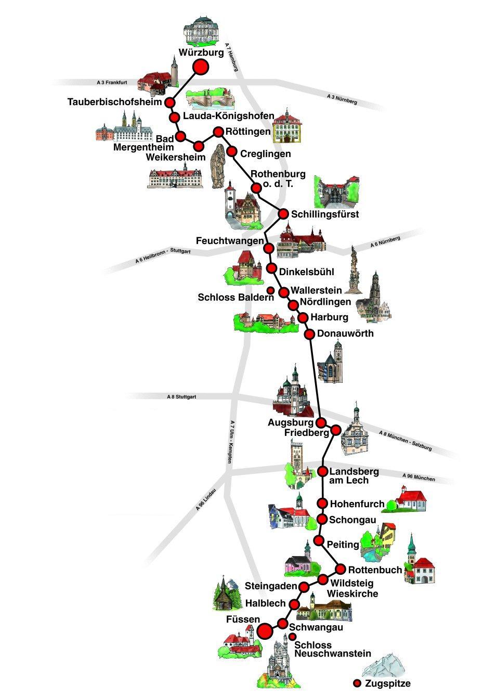 Романтическая дорога Карта